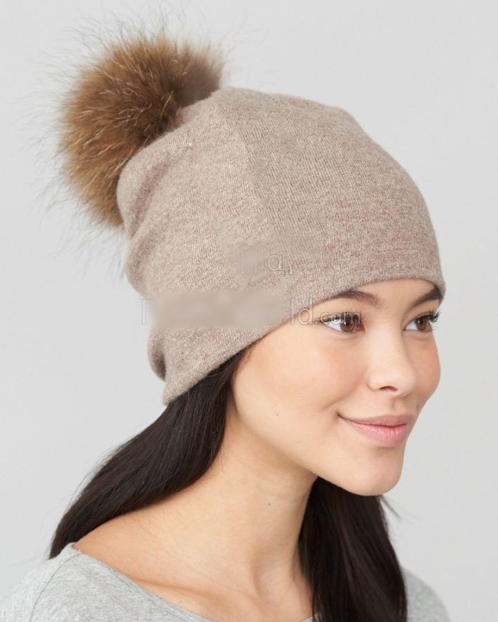 Faux Fur Fine Knit beanie Hats