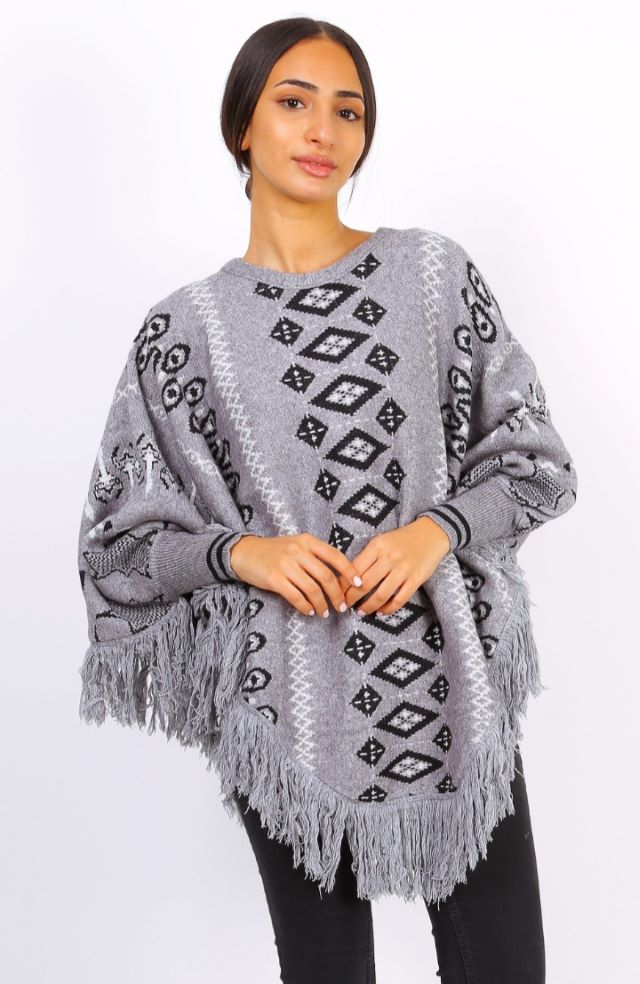 Aria Sleeved Poncho – Colours available