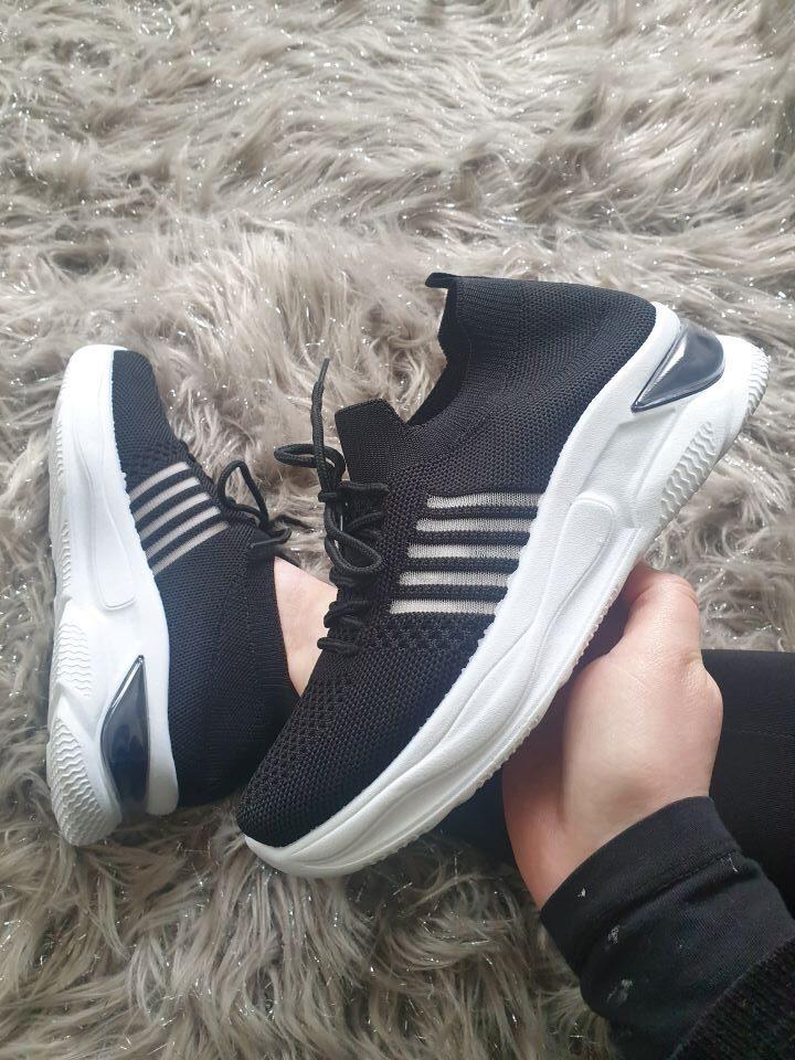 Aimee Black Sock Runner