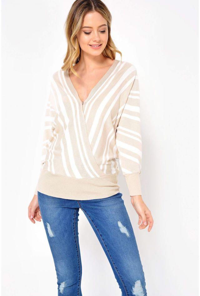 Stella Stripe Wrap Top