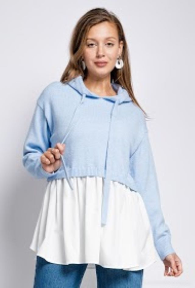 Jess 2 in 1 Sweater – Blue or Pink