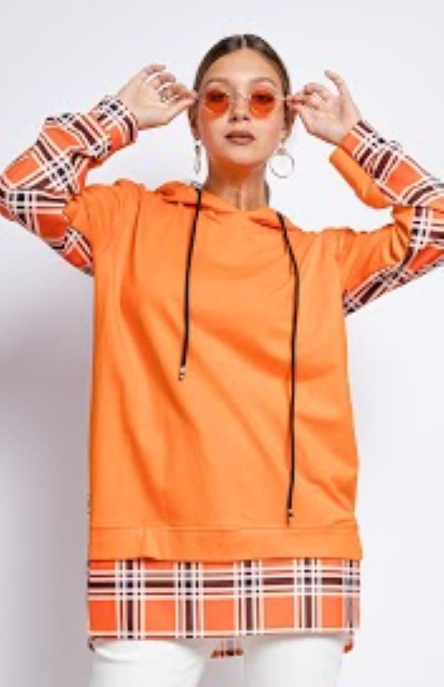 Cleo Check Oversized Hoodie – Colours Available