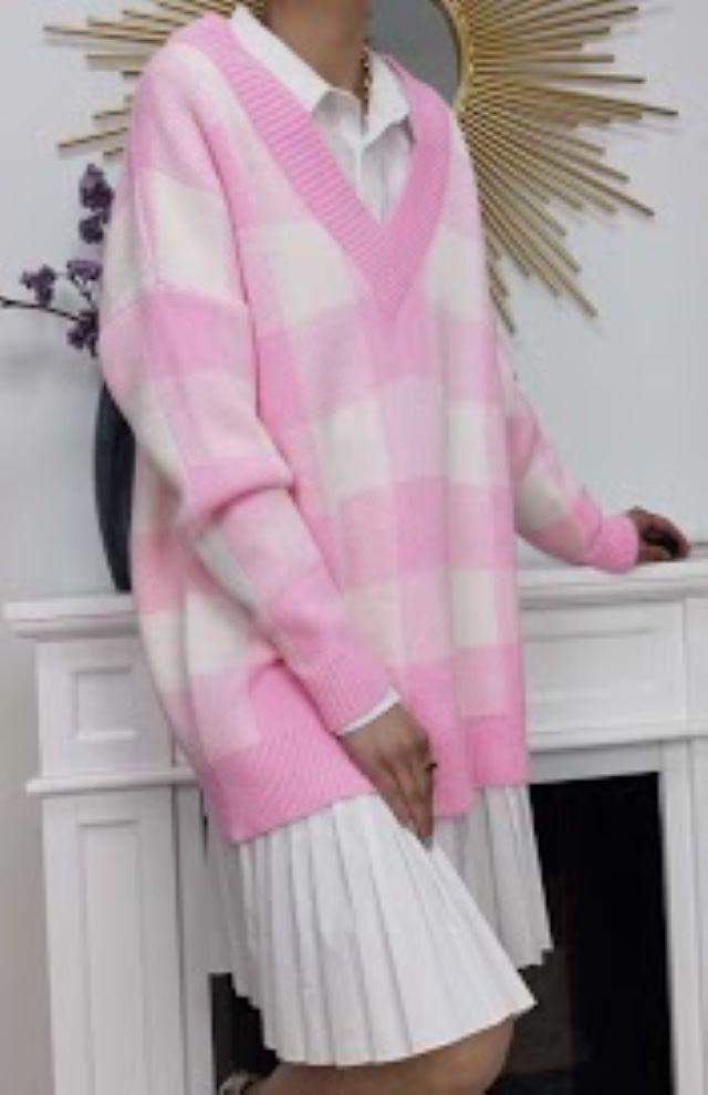 Beky Oversized Knit – Pink