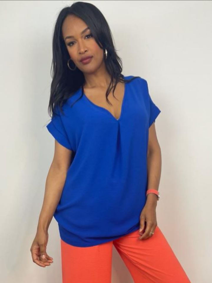 Sami Vneck Oversized Top – Colours Available