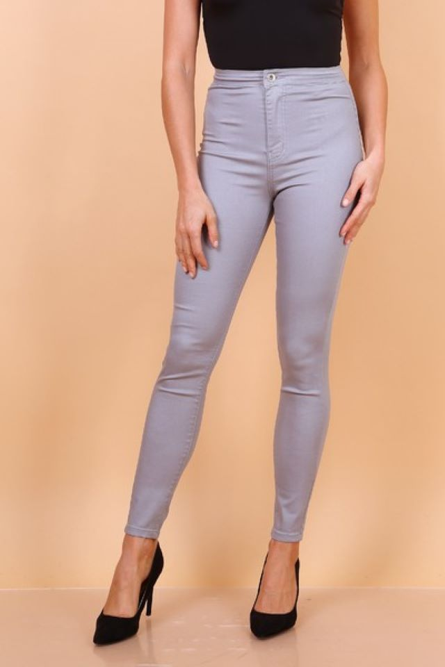 Jonie Highwaist Skinnies in Grey