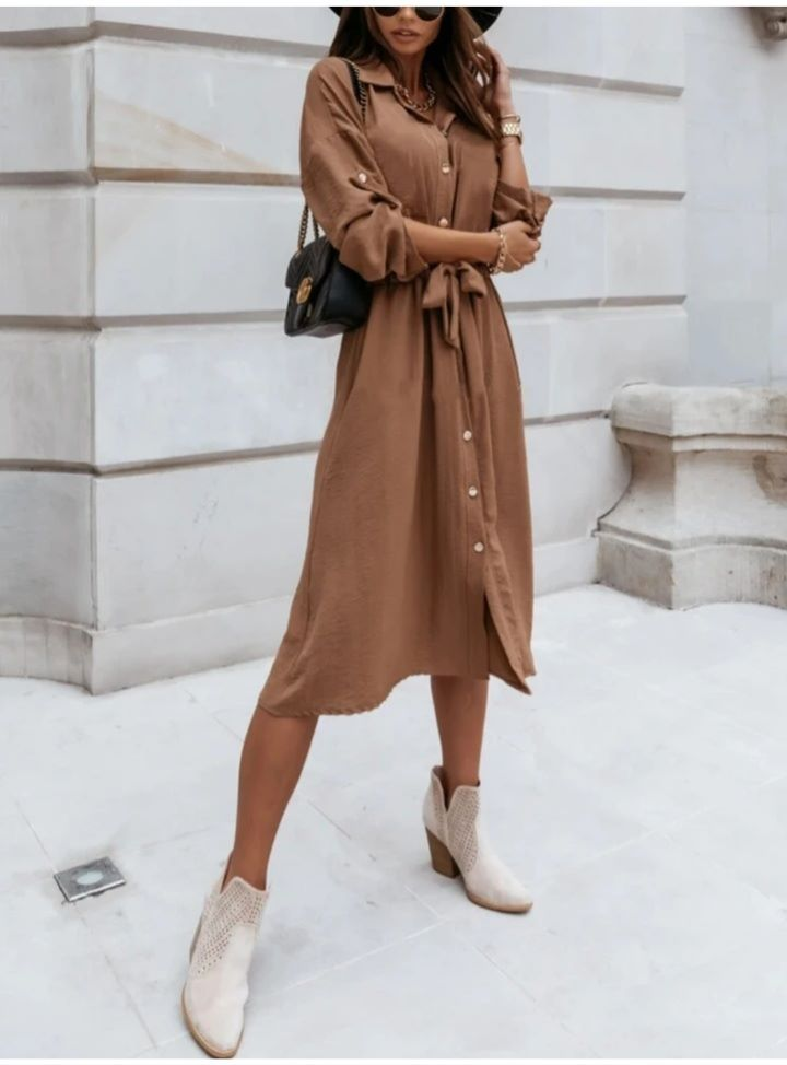 Paige Dress in Camel