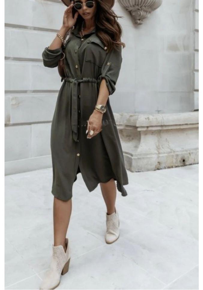 Paige Dress in Khaki